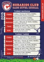Horarios 2015, Club CADS - Nivel Inicial